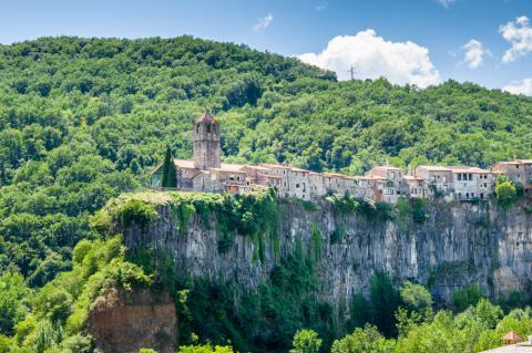 Curiosidad sobre Castellfollit de la Roca (Gerona)