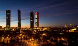 Vista panorámica de Madrid, capital Española.