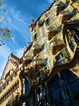 Emblemático edificio de Gaudí en Barceona (Cataluña)