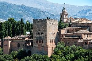 Panorámica de la Alhambra de Granada