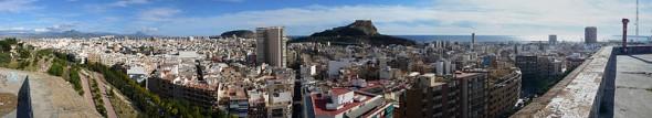 Alicante, panoramica desde el castillo de San Fernando