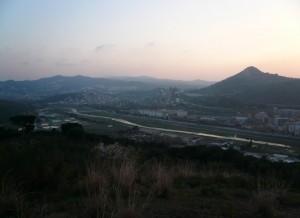 Río Besós y Turó de Moncada, donde se encuentra el municipio